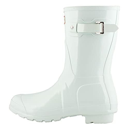 HUNTER Boot Women's Original Short Gloss Rain Boot Spearmint 10 Medium US...