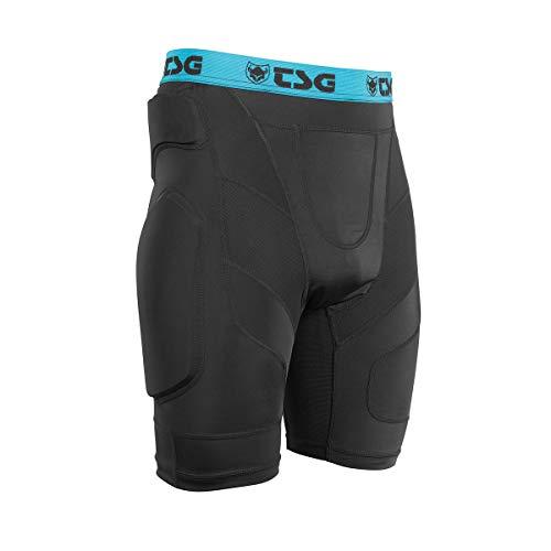 TSG Crash Pants A - Pantaloni protettivi Unisex, Unisex - Adulto, 260004, Nero, L