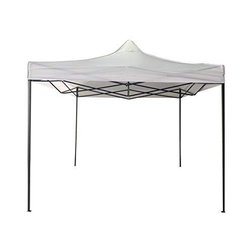 Rebecca Mobili Tonnelle en Accordéon Pliable Blanc Métal Polyester Tente de Réception Stand du Marché Jardin Pavillon - 3,1x3x3 m (H x L x P) - Art. RE6303