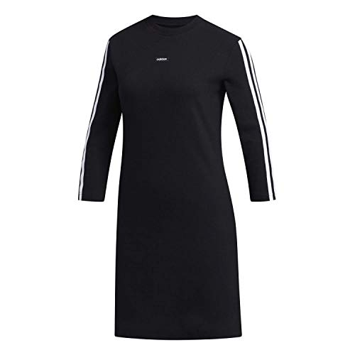 adidas Damen Kleid W WMN Dress, Negro/Blanco, M, FM6136