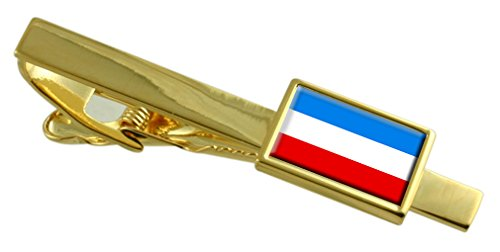 Select Gifts Mannheim City Deutschland Fahne Gold Krawattenklammer graviert Personalisierte