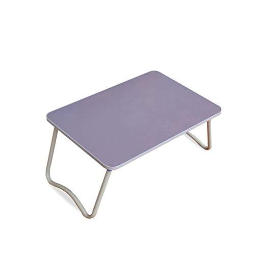Table Pliante Table Pliante Multifonctions Ordinateur Portable Lit Lit Lazy Table Petite Table Bureau Pliant Dortoir Artifact (Color : Purple)