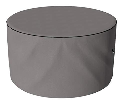 SORARA Housse de Protection Hydrofuge pour Table Ronde   Gris   Ø 123 x 70 cm