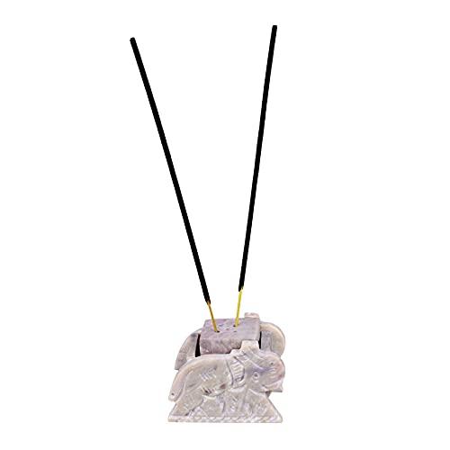 Soporte de incienso con forma de elefante pequeño | Soporte de cono de incienso | Diseño tallado a mano en forma de elefante | Atrapasueños de cenizas | Fragancia para el hogar...