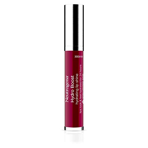 Neutrogena Hydro Boost Moisturizing Lip Gloss, Hydrating Non-Stick and Non-Drying Luminous Tinted Lip Shine with Hyaluronic Acid to Soften and Condition Lips, 80 Deep Cherry, 0.10 oz