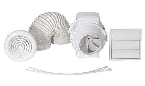 Luchtdoorlaat AVENTA SHWTKT 100 mm, timer, In Line Fan Kit (ventilator)