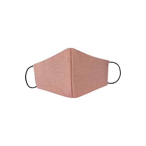 Viannchi Mascarilla reutilizable de Mujer, Colores Lisos, Talla M,protección contra el polvo, fabricada en España. incluye extensor color Negro para la mascarilla. (Rosa Palo)