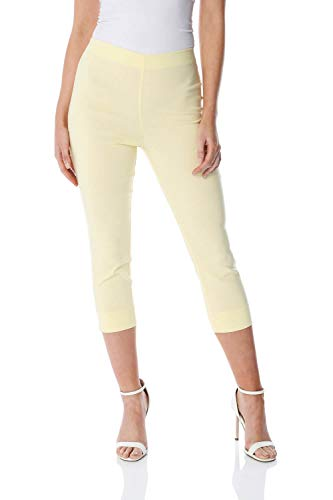 Roman Originals Women Cropped Trousers Ladies Capri Pants Stretch Bengaline...