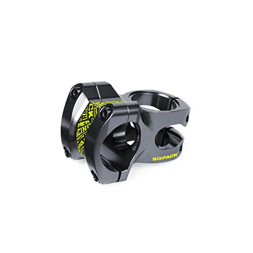 SixPack Racing Skywalker | 35mm Farbe Vorbau MTB Unisex Erwachsene, schwarz/Neongelb