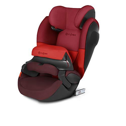 CYBEX Silver 2-in-1 Kinder-Autositz Pallas M-Fix SL, Für Autos mit und ohne ISOFIX, Gruppe 1/2/3 (9-36 kg), Ab ca. 9 Monate bis ca. 12 Jahre, Rumba Red