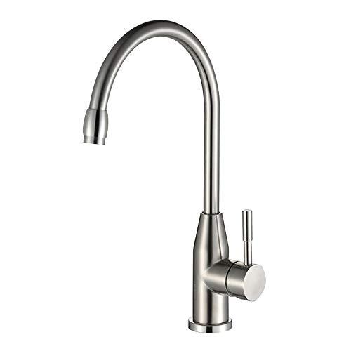 Toque de agua DKEE Baño grifo del fregadero de la cocina del grifo caliente y verduras frías cuenca del grifo de la cocina puede ser girada