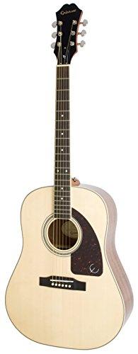 Epiphone AJ-220S Solid Top Akustik-Gitarre (Naturlack, Mahagoni Rückseite und Hals, Stitka Fichtendecke, Palisander Griffbrett, 25-1/2 Mensur)
