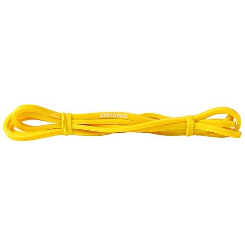 Apiccred Fasce elastiche per esercizi di resistenza, da uomo, donna, per palestra, yoga, pilates, allenamento, Cross Fit, allenamento di forza, Giallo, 10 – 15 kg.