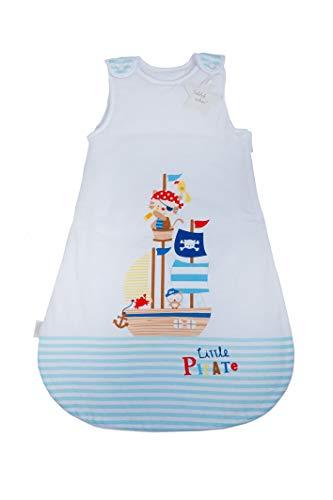 Herding Baby Best Baby-Schlafsack, Kleiner Pirat Motiv, 90 cm, Seitlich umlaufender Reißverschluss und Druckknöpfe, Weiß