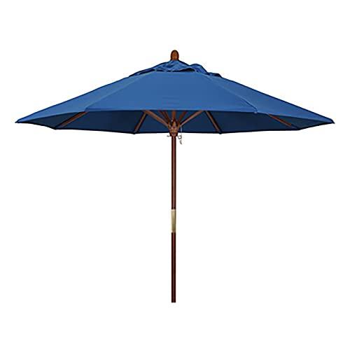Sombrilla Sombrilla de playa redonda extra grande a prueba de lluvia y sol para patio, sombrilla de patio al aire libre para mesas de café con 8 varillas de sombrilla resistentes para picnics familiar