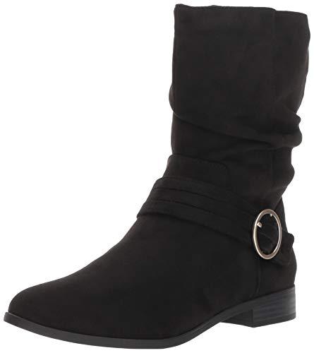 Dr. Scholl's Shoes Women's Ripple Mid Calf Boot, Black Microfiber, 6.5 M US
