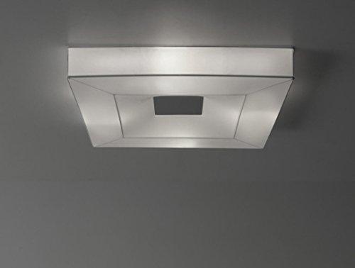 iBERGADA Lámpara de Techo Plafón de Tela Elástica - Buffle Cuadrado Color Blanco (50cm x 50cm x 10cm)