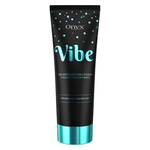 Onyx Vibe - Tanning Lotion Accelerator & Tan Intensifier - Rapid Tan Effect - Soft & Smooth Skin Renew Formula