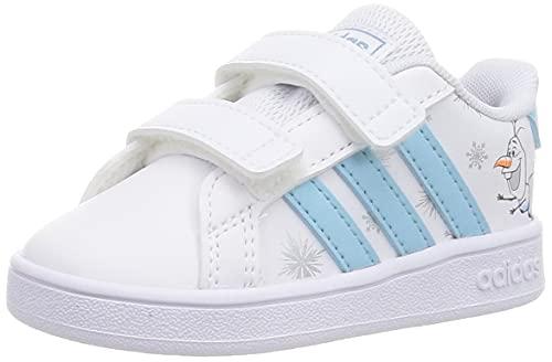 adidas Grand Court I, Zapatillas Deportivas Unisex bebé, FTWBLA/CELBRU/AZUBRU, 20 EU