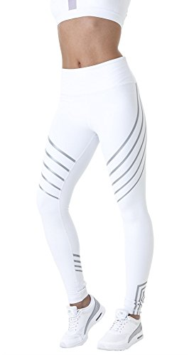 Damen Leggings, Morbuy Sport Gym Yoga Workout Pants Basic Fitness Hohe Taille Jogginghose Trainingshose Skinny Hosen Hose Sporthose (S, Weiß)