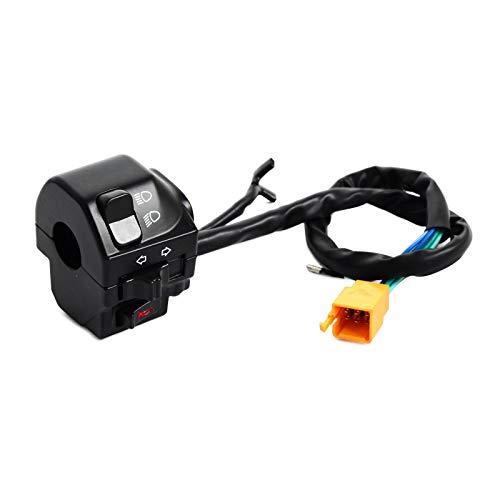 Interruptor del manillar de la motocicleta Universal de 7/8' motocicleta de la bici barra de la manija del interruptor 22 mm Control de Procesos for KTM Yamaha Suzuki, fácil de instalar