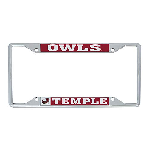 Desert Cactus Temple University Owls NCAA Metal License Plate Frame for Front or Back of Car Officially Licensed (Mascot)