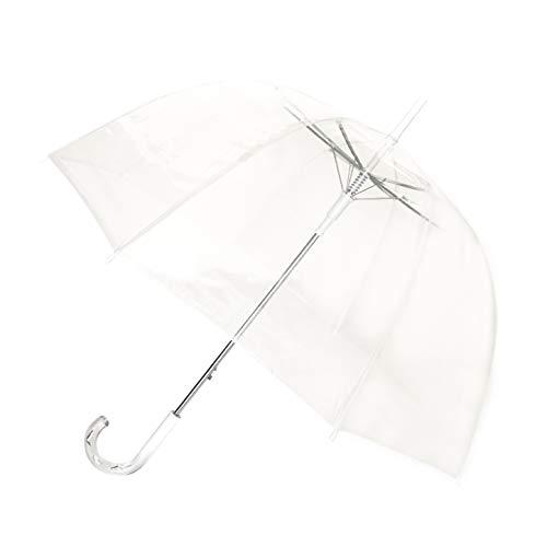 SMATI Regenschirm durchsichtig transparent mit Automatik Stockschirm (Hochzeit)