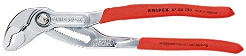 Preisvergleich Produktbild KNIPEX 87 03 250 SB Cobra® Hightech-Wasserpumpenzange verchromt mit rutschhemmendem Kunststoff überzogen 250 mm (in SB-Verpackung)
