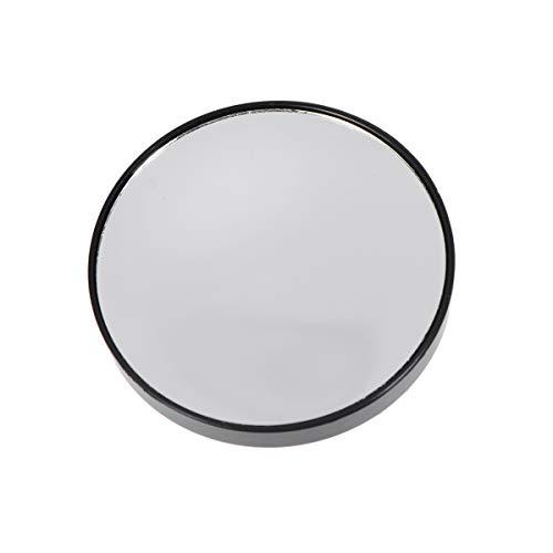 Lurrose Miroir grossissant 10X Petit Miroir Rond à Ventouse 7.5cm (Noir)