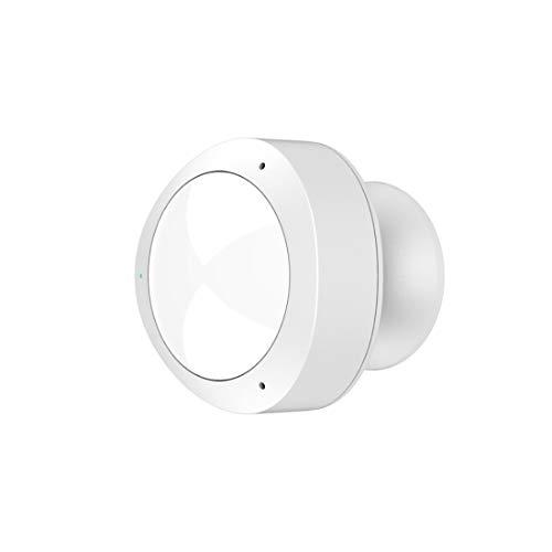 Hama Wi-Fi Bewegungsmelder mit Alarm-/Licht-Funktion (Infrarot-Bewegungssensor, Alarm-Benachrichtigung aufs Handy, gratis App, Netz-/Batteriebetrieb, ohne Hub) Präsenzmelder