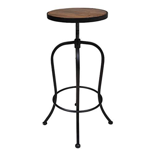 XQAQX kruk barkruk LOFT vintage in hoogte verstelbaar Chinese dennen ijzer kunst design industrie bistro kroon keuken counter stoel stool