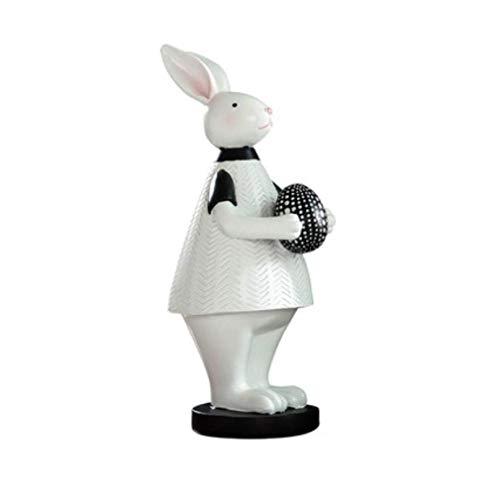 DSENIW QIDOFAN Crafts Dekorationen Art Craft Kaninchen Dekoration zu Hause Wohnzimmer TV Schrank Weinkühler Geburtstagsgeschenkartikel