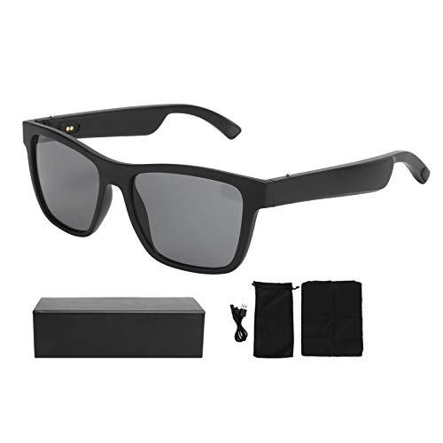 Draadloze Bluetooth 5.0 Anti-Blauw Licht Bril Polariserende Audio Zonnebril met Oortelefoon Zwart