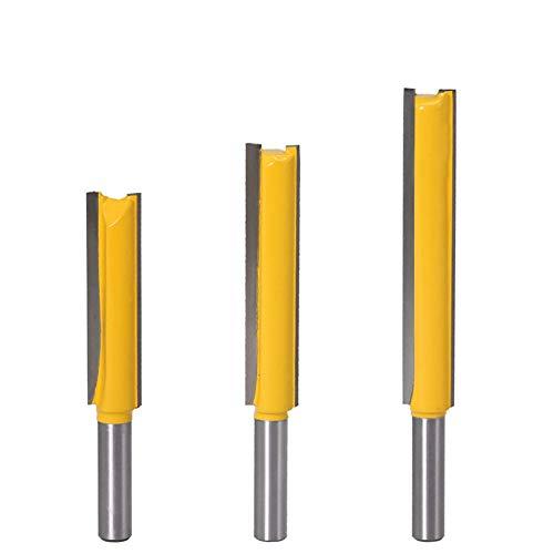 8mm Schaft Gerades Fräser Schneidmesser 3 Stück Fräser Nutfräser Holzfräser Bit Set 8 * 1/2 * 50, 8 * 1/2 * 63, 8 * 1/2 * 76