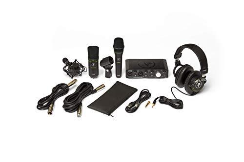 Mackie Paquete de productores con interfaz Onyx Producer, micrófono dinámico EM89D, micrófono condensador EM91C y auriculares MC-100.