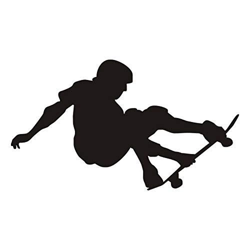 Tianpengyuanshuai kunst skateboard steen vinyl muursticker sport muur lamp kinderkamer jongens afneembaar silhouet decoratie zwart