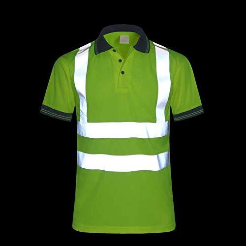 Vest Reflecterende Veiligheid Snelle Droge Veiligheid Kleding Nachtwerk T-Shirt Reflecterende Tops Werkkleding Droge Fit T Shirt Vest Ademende Werk Veiligheid Kleding L