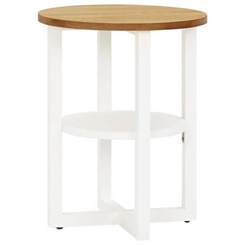 SKM Lamp Table 40x50 cm Solid Oak Wood