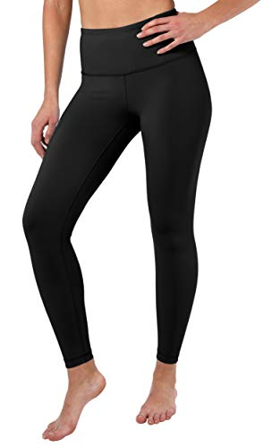 90 Degree By Reflex High Waist Squat Proof Ankle Length Interlink Leggings - Black - XL