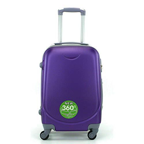 Maleta 4 Ruedas 360º Equipaje para FACTURAR Viajar Viaje 65x45x35cm Morada