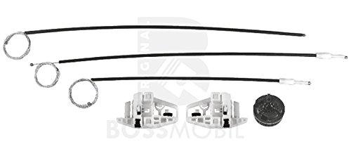 Bossmobil MEGANE 2 II (BM0/1, CM0/1_), Grandtour (KM0/1_), Stufenheck (LM0/1_), Delantero izquierdo, kit de reparación de elevalunas eléctricos
