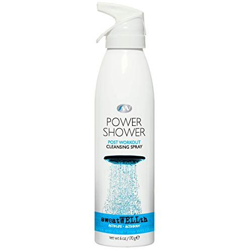 sweatWELLth Power Shower Post Workout Cleansing Spray   Refresh Technology, Anti-Microbial, Body Spray, Fresh, Clean Scent, Time Release Formula, Free of Parabens, Sulfates, & GMOs, 6 oz.