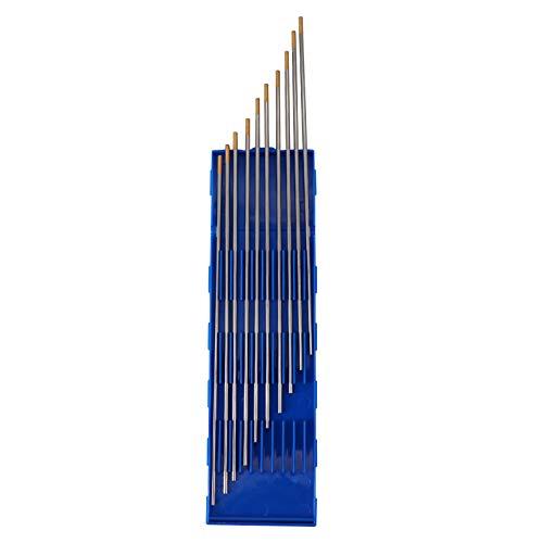 Dokili 10 Stück Wolfram Elektroede Nadel WIG Schweißen Tungsten Electrodes WL-15 Ø2,4 x 175mm 1.5% lanthanated ANSI/AWS A5.12-98 ISO 6848