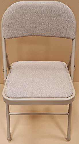 Super Delux Folding Strong Metal Frame Padded Back Rest Chair Home Garden Office Computer Desk