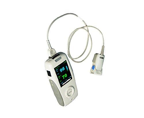 Oxímetro de pulso portátil ChoiceMMed, MD300K2, oxímetro para medir la frecuencia cardíaca y la saturación de oxígeno (SpO2), dispositivo de monitoreo fisiológico simple, confiable y duradero