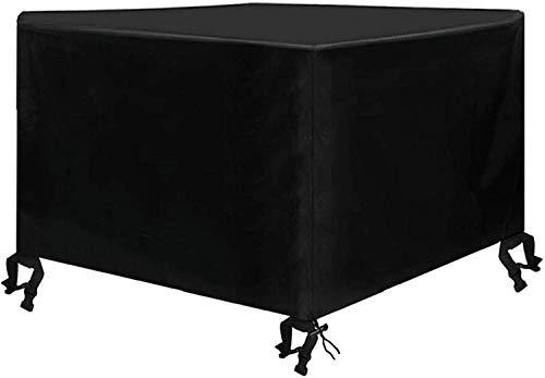 Osarke Abdeckung für Gartenmöbel Wasserdichtes Schutzhülle für Garten Tisch und Stühle Schutzhülle Sitzgruppe Abdeckhaube Oxford Schwarz 123 x 123 x 74cm