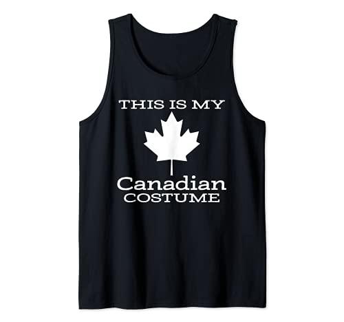 Este es mi disfraz canadiense divertido disfraz de Halloween Camiseta sin Mangas