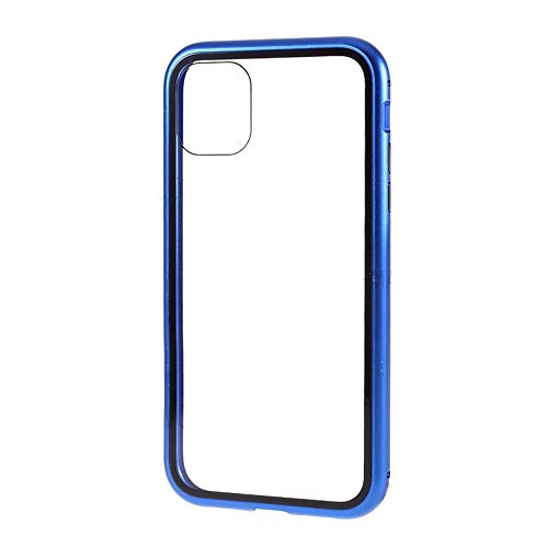 Best Shopper - Magnetic Adsorption Metal Frame Tempered Glass Phone Cover Case for Apple iPhone 11 Pro Max 6.5'' - Blue