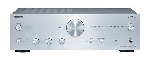 Onkyo A-9150(S) Stereo-Vollverstärker mit spezieller Leistungsverstärkungsschaltung (60 W/Kanal Ausgangsleistung, hochwertige Verarbeitung und Audioanschlüsse, MM/MC Phono-Eingang), Silber