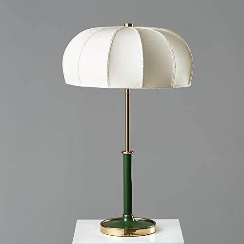 WSJTT Desk Lamp Lámpara Simple Paño Verde Craft Mesa Lámpara Personalidad Europea Retro Sala de Estar Dormitorio Estudio de Noche Escritorio Lámpara Decoraciones 37 * 37 * 60cm Desk Lamp